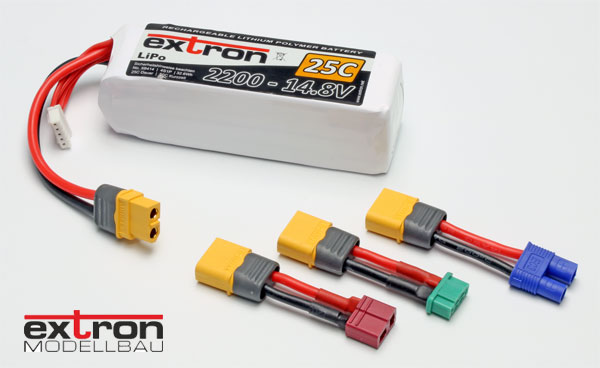 Extron Modellbau Extron Akku Adapterstecker