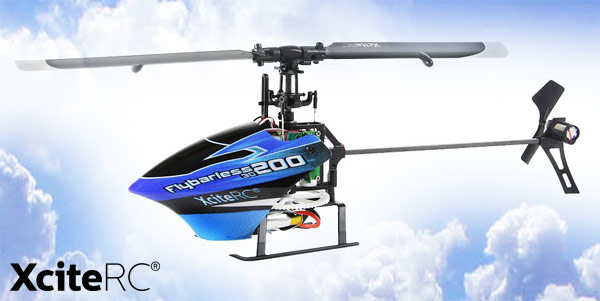 XciteRC Flybarless 200 3D Single Blade 6K ARTF