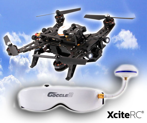 XciteRC FPV racing copter mit Videobrille