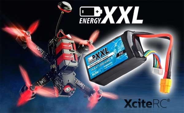 XciteRC energyXXL Race-Copter LiPo